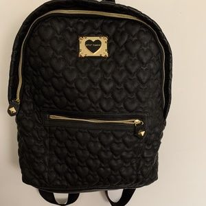 Quilted Black Betsey Johnson Backpack
